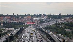 İstanbul'da trafik bazı noktalarda durma noktasına geldi