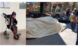 Pazarcı kadın doğurduğu bebeği tezgahın altına attı