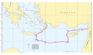 Doğu Akdeniz'de ruhsat başvurusu yapılan alanları gösteren harita paylaşıldı