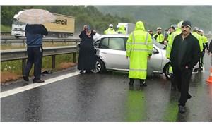 Seyahat yasağının kalktığı 2. günde TEM'de zincirleme kaza: 25 araç birbirine girdi