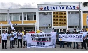 İzmir'den yola çıkan demiryolu emekçileri Kütahya'da