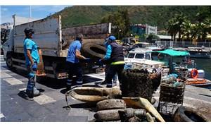 Marmaris'te deniz temizliği: Denizin dibindenalışveriş arabası çıktı