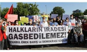 CHP ve HDP'li isimlerin vekilliklerinin düşürülmesi protesto edildi