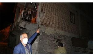 Depremin ardından Erzurum'dabazı evlerde hasar oluştu