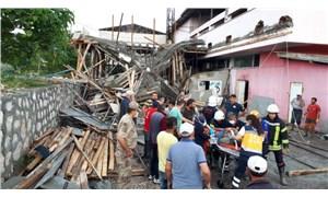 Amasya'da inşaat halindeki bina çöktü: 4 işçi yaralandı