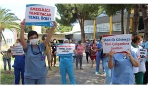 DEÜ Tıp Fakültesi sağlık çalışanlarının hak arama mücadelesi devam ediyor