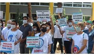 DEÜ'deki eylemlere siyasi oyun diyen Başhekim, AKP ve MHP ile birlikte açıklama yaptı