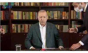 Erdoğan'ın yayın öncesi hazırlık görüntüleri ortaya çıktı