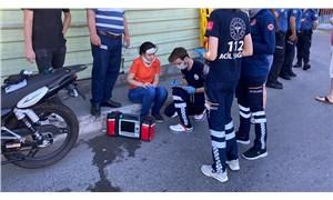 Sınav yolunda kaza yapan öğrenci, hastane yerine sınava gitti