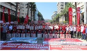 İzmir'de işçiler sokakta:Kıdem tazminatı emekçinin son kalesidir