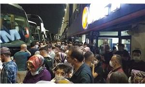 İstanbul Otogarı'nda korkutan asker uğurlama görüntüleri: Sosyal mesafe hayal oldu