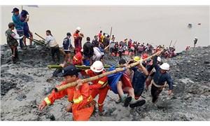 Myanmar'da maden ocağında heyelan: 113 ölü