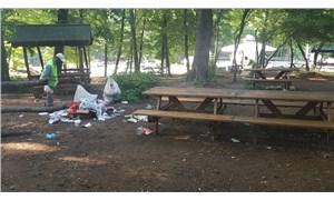 Belgrad Ormanı'nda hafta sonu 29 ton çöp toplandı