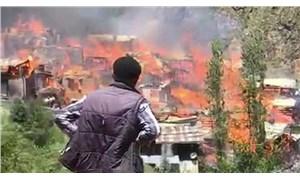 Artvin'de büyük yangın: 35 hane kullanılamaz hale geldi