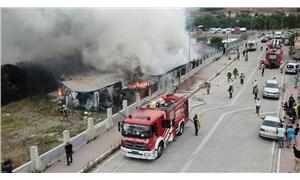 Esenyurt'ta işçilerin kaldığı konteynerlerde yangın