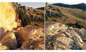 Defineciler, tarihi kalıntıların olduğu bölgede tonlarca kaya patlattı