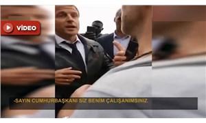 Protestoculardan Macron'a: Sayın Cumhurbaşkanı, siz benim çalışanımsınız