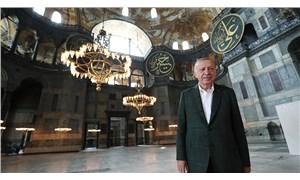 Erdoğan, Ayasofya'yı gezdi