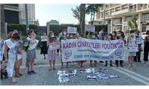 İzmir'de kadınlar İstanbul Sözleşmesi için sokağa çıktı
