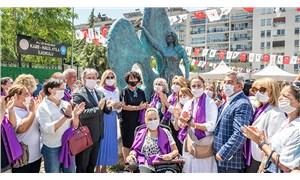 """Katledilen kadınların anısına: Bornova'ya """"Meçhul Kadın Anıtı"""" dikildi"""
