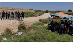 Salihli'de enerji şirketi, Çapaklı'ya jandarmayla beraber girdi: Köylüler gözaltına alındı