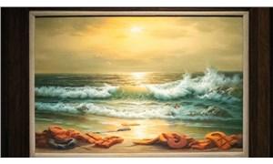 Banksy'nin üç parçalı tablosu, açık artırmada 2,2 milyon sterline satıldı