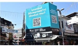 Beşiktaş Belediyesi, ilçenin dört bir yanında kadın cinayetleri ve İstanbul Sözleşmesi'ne dikkat çekiyor