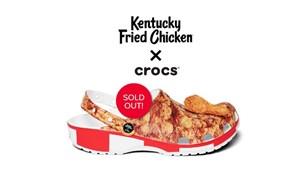 KFC ve Crocs'un tavuk kokulu terlikleri yarım saatte tükendi