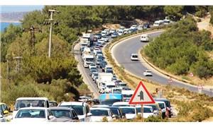 Bodrum'da trafik kilitlendi