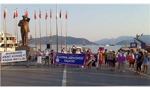 Ege'nin kadınları İstanbul Sözleşmesi için direnmeye devam ediyor