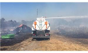 Bursa'da çiftlikten ormana sıçrayan yangın kontrol altına alındı