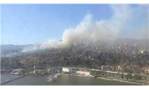 İzmir'de askeri alanda yangın çıktı