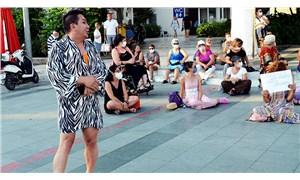 Kadınlar, İstanbul Sözleşmesi eylemine katılmak isteyen Murat Övüç'e izin vermedi