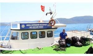 Muğla'da teknelerden 109 bin 230 kilo katı atık toplandı