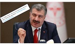 Sağlık Bakanı Koca'ya sosyal medyadan tepki: #BakanKocaÖzürDile