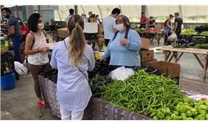İBB CHP Meclis üyeleri Karahan ve Dönmez 'Üretici Kooperatifi Pazarı'nı ziyaret etti