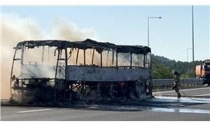 Kuzey Marmara Otoyolu'ndaki otobüs yangını söndürüldü