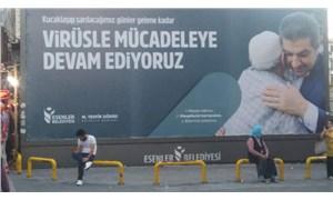 AKP'li Esenler Belediyesi'nin 'koronavirüsle mücadele' afişi tepki çekti