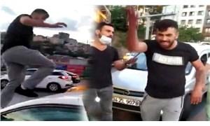 Tartıştığı kadın sürücüye saldırıp, aracına zarar veren erkek gözaltına alındı