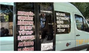 Esenyurt'ta minibüsten indirilen fazla yolcu yumruklayarak camı kırdı