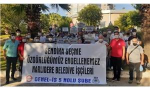 Narlıdere Belediyesi işçileri Türk-İş'ten istifa ederek DİSK'e üye oldu