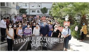 Gaziemir'de kadına yönelik erkek şiddeti protesto edildi