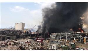 Beyrut'ta patlamanın gerçekleştiği liman bölgesinde yangın çıktı