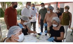Emek Atölyesi'nde 1 milyondan fazla maske üretildi