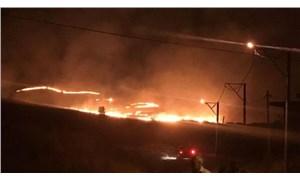 Gökçeada'da sabaha kadar süren mera yangını söndürüldü