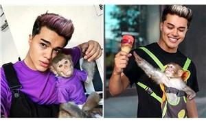 Sosyal medya fenomeni İzgi tepki çekti: Yine kaçak yollardan maymun aldı