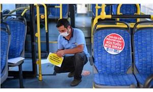 Ankara'da toplu taşımada 'sosyal mesafe' uygulaması
