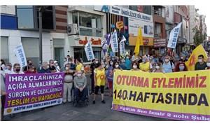 """İzmir'de KHK'liler 140'ıncı haftada eylemde: """"Adaleti bu topraklara mutlaka getireceğiz"""""""