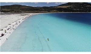 Salda Beyaz Adalar'da göle giriş yasaklandı
