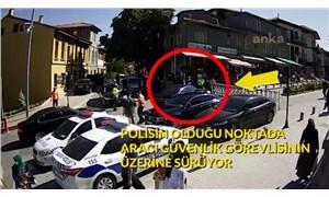 MHP'li vekilin şoförünün, ABB görevlisine çarptığı görüntüler ortaya çıktı